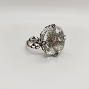 Silpada Sterling Silver & Crystal Ring, size 9